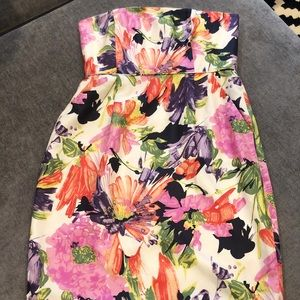 J Crew Ella Floral Strapless Dress
